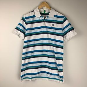 United Colors of Benetton Blue and White Polo